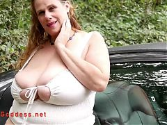 Huge tits Daisy Nukes driving in her car