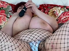 Big tits Mom with very hairy pussy