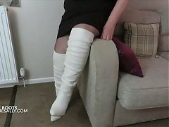 Sally in her long white boots