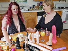 Kore Goddess and Lila Lovely – huge tits play and machine fuck